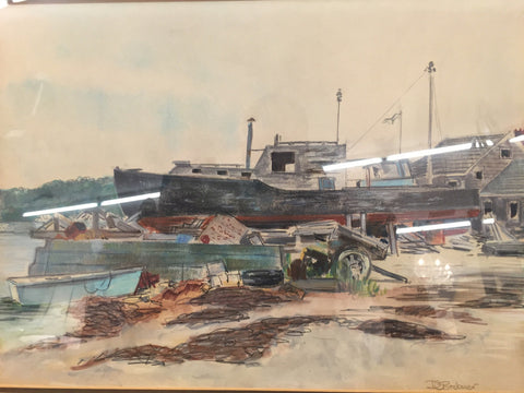 Watercolor, Brebner, Marine -   - 1