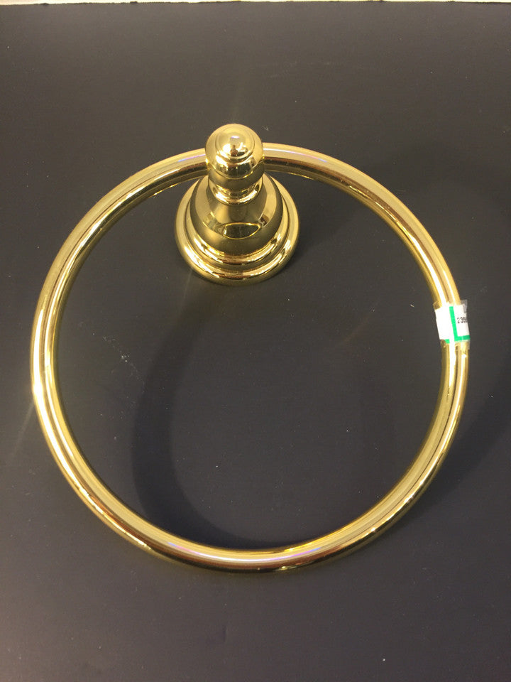 Solid Brass Ring Towel Rack