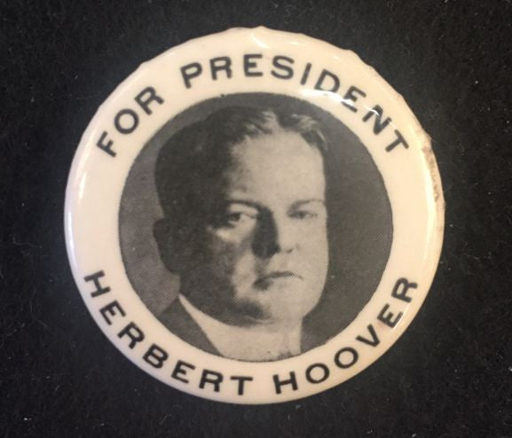 political pin For President Herbert Hoover - Jarred's Homegoods / Treasure Brokers  - 1