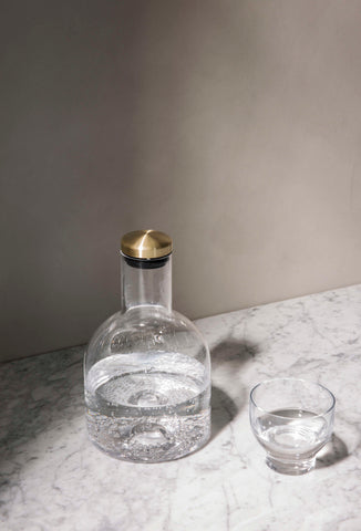 Bottle Carafe - 1.4L Brass Lid