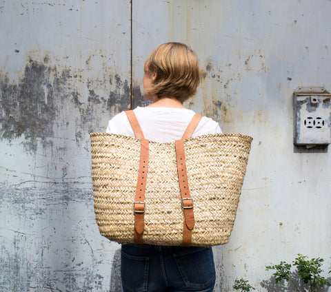 French Backpack Basket