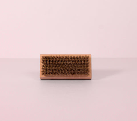nail brush with soap holder
