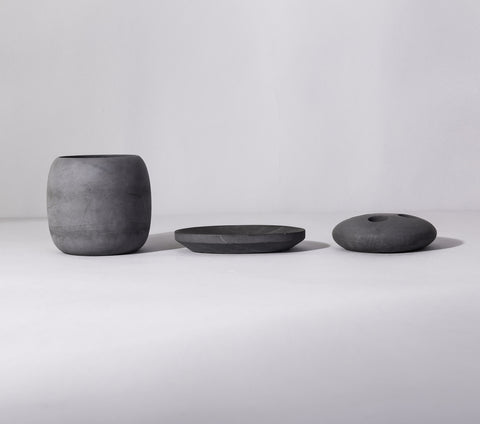 concrete bowl - dark grey