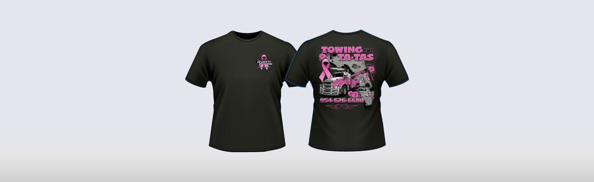 Towing For Ta-Tas Breast Cancer Awareness T-Shirt
