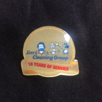10yr Service Pin with Black Soft Cloth Pouch