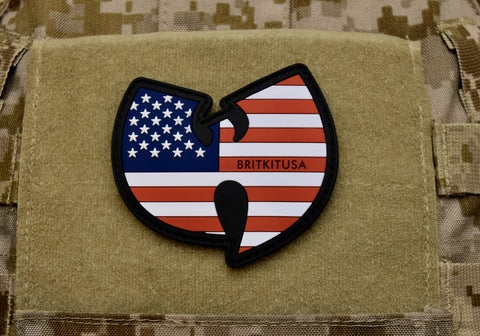 WU TANG STARS & STRIPES 3D PVC MORALE PATCH - Tactical Outfitters