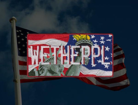 WE THE PEOPLE JUMBO LICENSE PLATE MORALE PATCH - Tactical Outfitters
