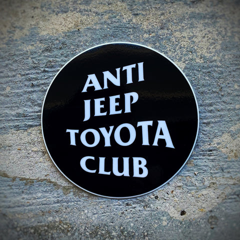 "Overland Goons™️ ""Anti Jeep Yota Club"" Sticker"