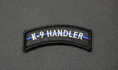 K9 HANDLER THIN BLUE LINE TAB MORALE PATCH - Tactical Outfitters