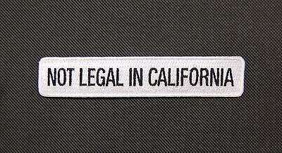 NOT LEGAL IN CALIFORNIA MORALE PATCH - Tactical Outfitters