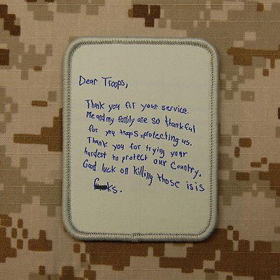DEAR TROOPS LETTER MORALE PATCH - Tactical Outfitters