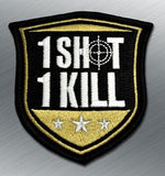 1 SHOT 1 KILL MORALE PATCH - Tactical Outfitters