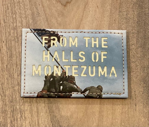 FROM THE HALLS OF MONTEZUMA LASER CUT MORALE PATCH - Tactical Outfitters