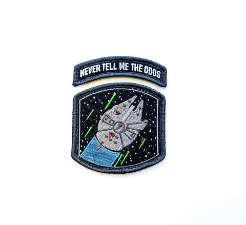 NEVER TELL ME THE ODDS FALCON FIGHT MORALE PATCH - Tactical Outfitters