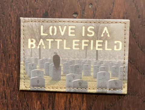 LOVE IS A BATTLEFIELD LASER CUT MORALE PATCH - Tactical Outfitters