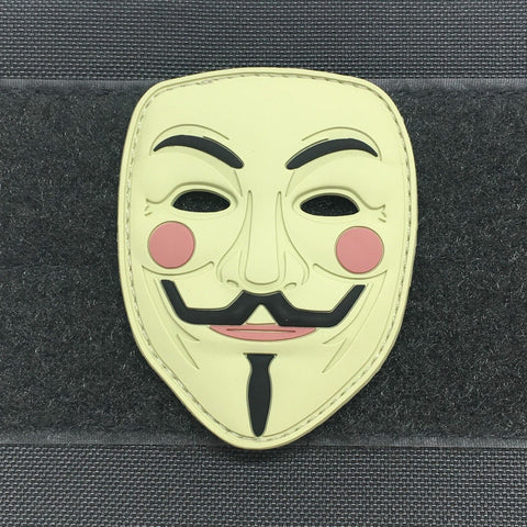 GUY FAWKES MASK 3D PVC MORALE PATCH - Tactical Outfitters