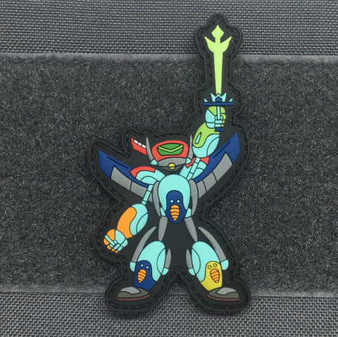 Little Voltron Robot 3D PVC GITD Morale Patch - Tactical Outfitters