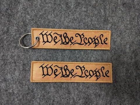 We The People Keychain with Loop Velcro - Tactical Outfitters