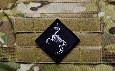 UNICORN SKELETON WOVEN MORALE PATCH - Tactical Outfitters