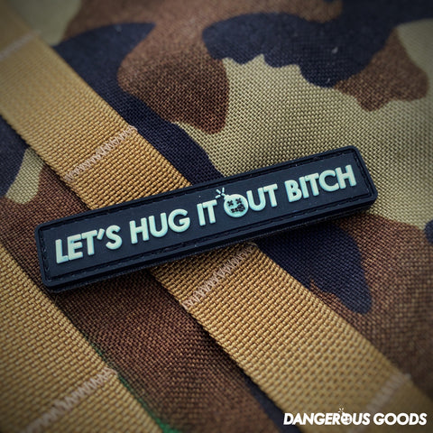 "Dangerous Goods™️ ""Let's Hug It Out Bitch"" PVC Morale Patch - Tactical Outfitters"