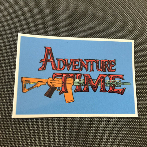 ADVENTURE TIME STICKER - Tactical Outfitters