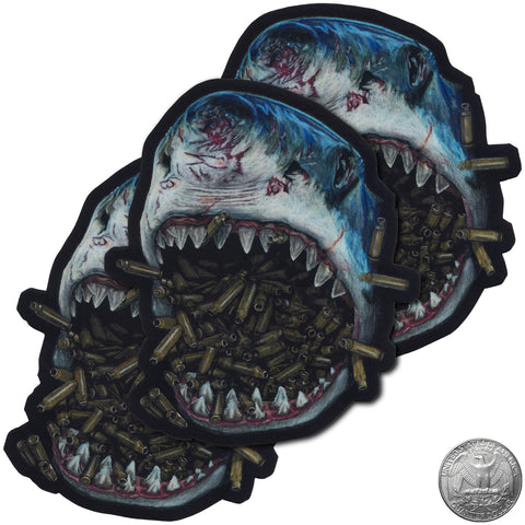 BRASS SHARK STICKER - Tactical Outfitters