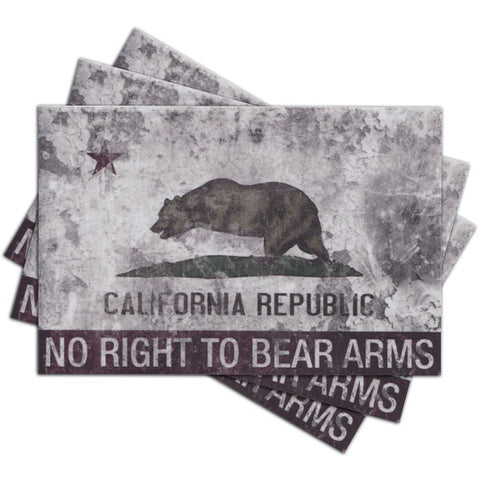 NO RIGHT TO BEAR ARMS STICKER - Tactical Outfitters