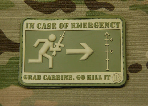 Emergency Carbine 3D PVC Morale Patch - Tactical Outfitters