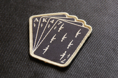 AK47 PLAYING CARDS MORALE PATCH - Tactical Outfitters