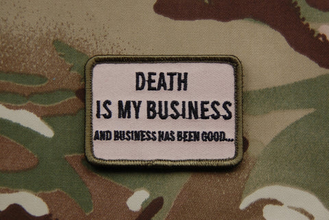 DEATH IS MY BUSINESS MORALE PATCH - Tactical Outfitters