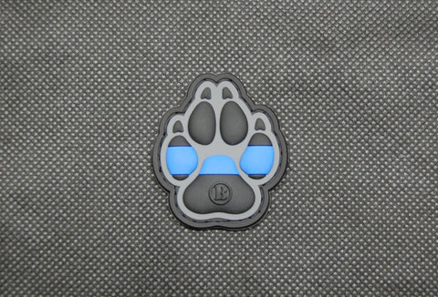 K9 Thin Blue Line PVC Morale Patch - Tactical Outfitters