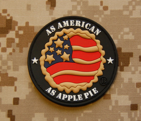 As American As Apple Pie 3D PVC Patch - Tactical Outfitters