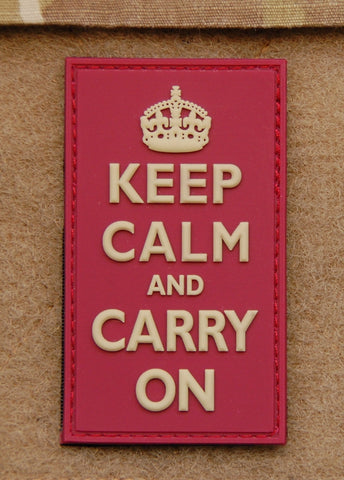 KEEP CALM AND CARRY ON PVC MORALE PATCH - Tactical Outfitters