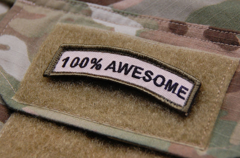 100% AWESOME MORALE PATCH TAB - Tactical Outfitters