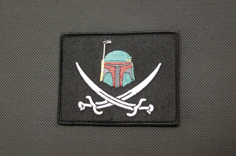 BOBA FETT CALICO JACK EMBROIDERED MORALE PATCH - Tactical Outfitters