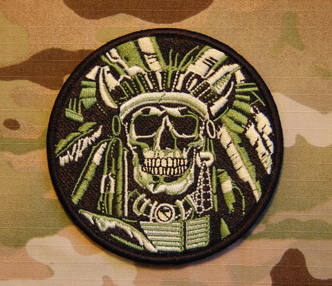 INDIAN CHIEF SKULL MORALE PATCH - Tactical Outfitters