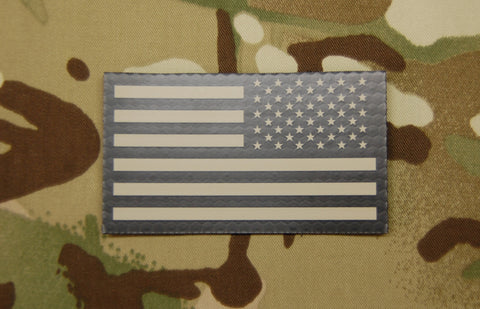INFRARED REVERSE AMERICAN FLAG PATCH - Tactical Outfitters