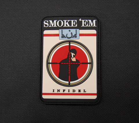 Smoke 'Em Infidel Cigarettes 3D PVC Morale Patch - Tactical Outfitters