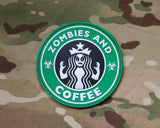 ZOMBIES AND COFFEE PVC MORALE PATCH - Tactical Outfitters