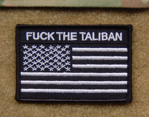 FUCK THE TALIBAN US FLAG MORALE PATCH - Tactical Outfitters