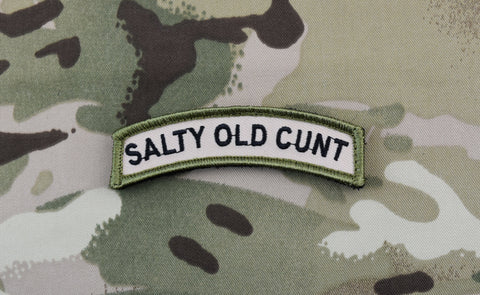 SALTY OLD CUNT MORALE PATCH TAB MORALE PATCH - Tactical Outfitters