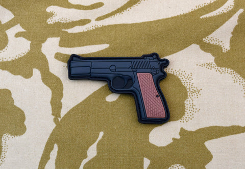 UKSF Browning Hi-Power Pistol 3D PVC Morale Patch - Tactical Outfitters