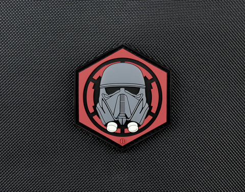 First Order Death Trooper Helmet PVC Morale Patch - Tactical Outfitters
