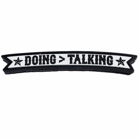 DOING > TALKING PVC MORALE PATCH - Tactical Outfitters