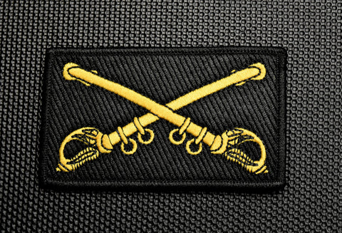CROSSED SABRES PREMIUM MORALE PATCH - Tactical Outfitters