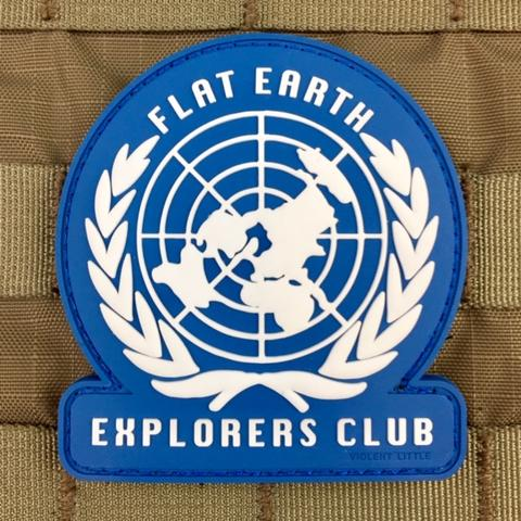 FLAT EARTH EXPLORERS CLUB MORALE PATCH - Tactical Outfitters