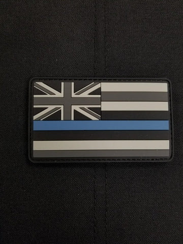 Hawaii State Flag Thin Blue Line PVC Morale Patch - Tactical Outfitters
