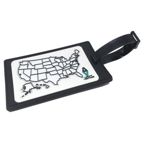 ADRIFT VENTURE US TRAVEL TRACKER MAP GITD PVC LUGGAGE TAG - Tactical Outfitters