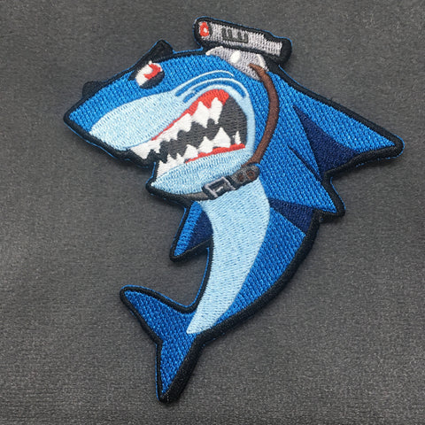 SHARK WITH FRIGGIN' LASER BEAMS - MORALE PATCH - Tactical Outfitters