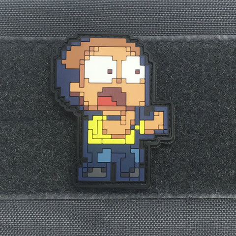 8BIT MORTY PVC MORALE PATCH - Tactical Outfitters